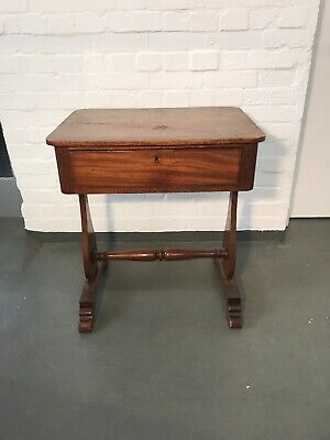 Antique Victorian Library Style Mahogany with central drawer.