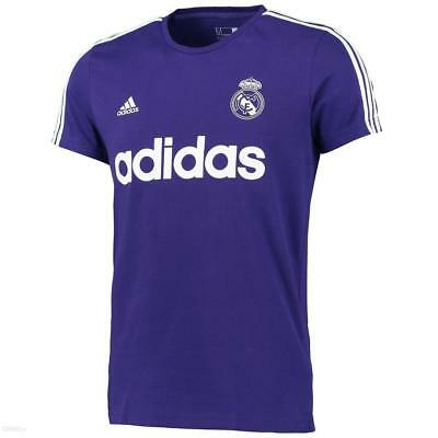 low priced d1bbb b5a9d Adidas Real Madrid Rmfc Calcio Viola Logo Uomo T-Shirt Allenamento Misura XL