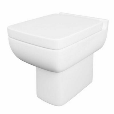 Kartell Lifestyle Ceramic Comfort Height Back To Wall Close Coupled Toilet Pan With Soft-Close Seat