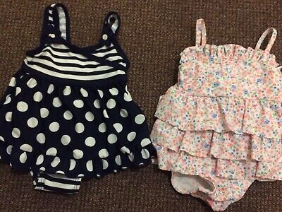 Two Brand New Baby Girl Swimming Costumes 6-9 Months