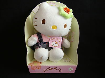 "Hello Kitty Plüsch ""Herbst"" 18 cm Stofftier-Figur Kittie Kitti Bean Bag"