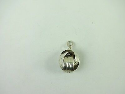 Vintage Sterling Silver Intertwined Ball Signed Napier Pendant