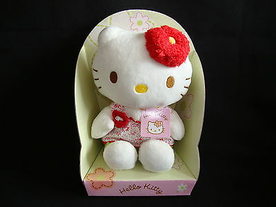 "Hello Kitty Plüsch ""Sommer"" 18 cm Stofftier-Figur Kittie Kitti Bean Bag"