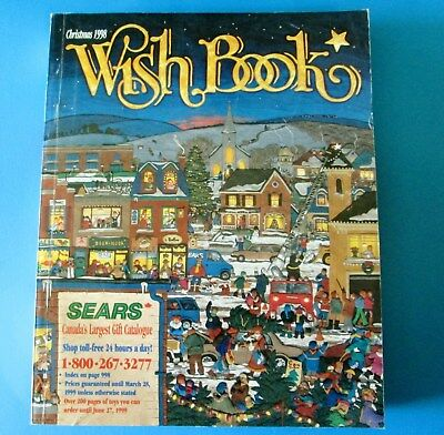 1998 Sears Canada Christmas Wish Book Catalog 999 Pages