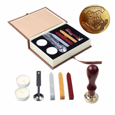 Vintage Harry Potter Hogwarts School Wax Badge Seal Stamp Kits Wax Set Tool Gift