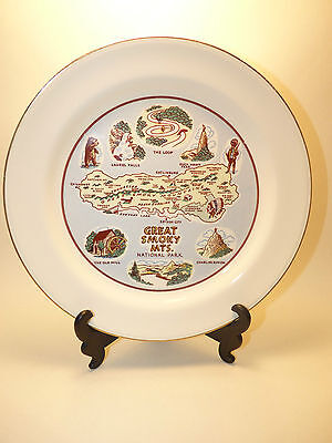 """1954 GREAT SMOKY MOUNTAINS NATIONAL PARK AMERICA 9"""" Collectible Plate"""