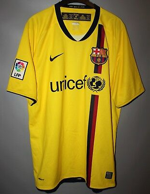 7201fe732f3 Fc Barcelona Spain 2008 2009 Away Football Shirt Jersey Camiseta Nike