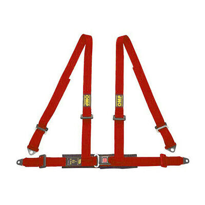 OMP  4 - points Safety Belts ECE, DA505 Red