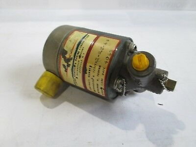Central Aviation Oil Dilution Solenoid P/N AN4078 as removed