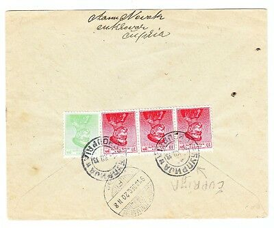 Serbia REGISTERED COVER Cuprija to Hungary 1913
