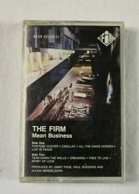 "The Firm ""Mean Business"" Cassette Tape, 1986"