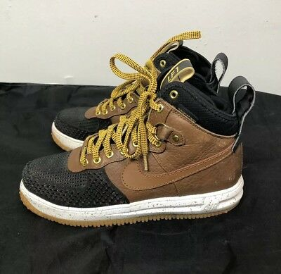 Nike Lunar Force 1 Duckboot Shoes LF1 Brown Black 805899-004 Size 8.5 Mens