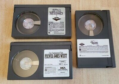 Betamax - Little Mermaid, An American Tail Fival Goes West, Rescuers....NO CASES