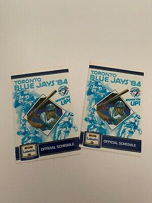 (2) Toronto Blue Jays 1984 MLB Baseball Pocket Schedules - Labatt's