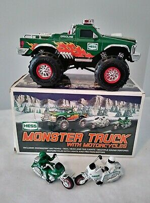 "Hess Truck 2007 ""Monster Truck"" With Motorcycles New In Original Box"