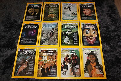12x The National Geographic Magazine (engl) 1974 - the complete year