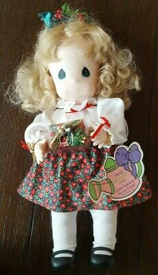 1994 Precious Moments First Edition Garden of Friends Holly December Doll #1466