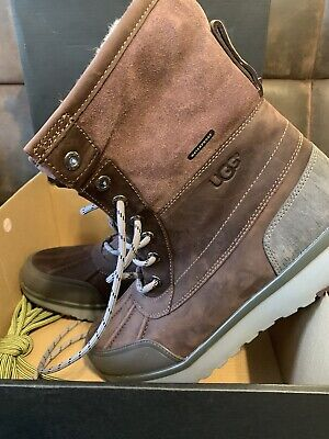 c99323cb4dc UGG ELIASSON CORDOVAN Water-Proof Leather Winter Boot Size 8