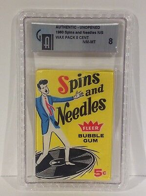1960 Fleer Spins And Needles 5 Cent Unopened Wax Pack Nm-Mt Gai 8 Nice & Rare!