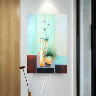 Hand Painted Modern Abstract Wall Art Oil Painting on Canvas Magnolia Framed