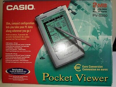 Casio Pocket Viewer 2Mb Pv-S250 Euro Conversion
