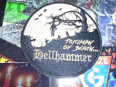 Hellhammer Shape Patch Dead Morbid Black Metal Mayhem Celtic Frost
