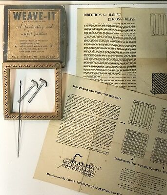 "RARE Vintage WEAVE-IT 4.5"" Hand Loom Set- DONAR PRODUCTS, Corp. in Original Box"