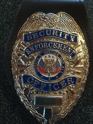 Security Enforcement Badge And Holder With Clip New
