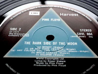 PINK FLOYD DARK SIDE OF THE MOON SOLID BLUE 1st Nr MINT Rarest A2 B2 TOP ARCHIVE