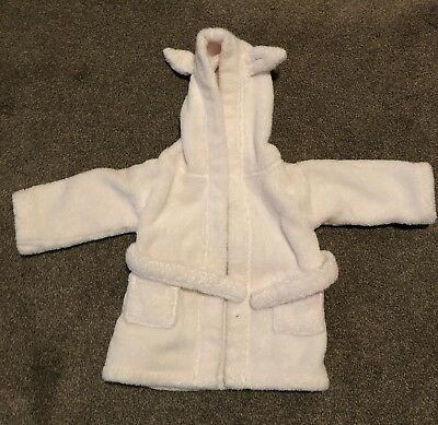 The Little White Company Pink Dressing Gown 0-6 Months