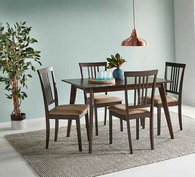 NEW Harper 4 Seater Extendable Dining Table White By Fantastic Furniture