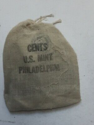 1971 Philadelphia Mint Sealed Canvas Bag Of 20 Lincoln Memorial Cents Cent Coin