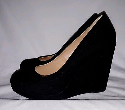 a49844063a2 CHINESE LAUNDRY WOMENS Teagan Black Suede Heels Size 7.5 (167325 ...