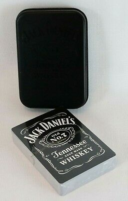 Jack Daniels Whiskey No7 Playing Cards in Collectors Tin Trivia on Each Card NEW