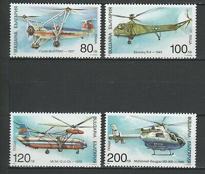Bulgaria 1998 Aviation Helicopters 4 MNH stamps