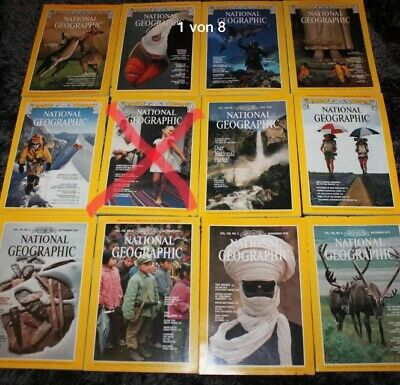 11x The National Geographic Magazine (engl) 1979