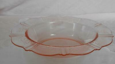 MacBeth Evans PINK AMERICAN SWEETHEART Oval Rimmed Serving Bowl DEPRESSION GLASS