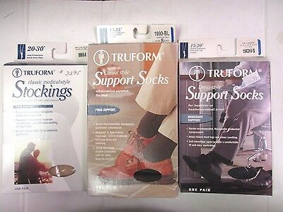 3 Truform Socks & Stockings For Men - Small - 3 Colors - Ew 5991J