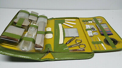 Vintage Grants Western Germany Travel Grooming Kit Set Ground Leather