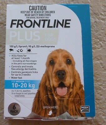 Frontline Plus 6 Months Pack For Dogs 23-44lbs 10-20KG BLUE