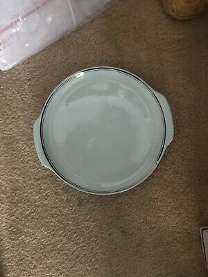 VTG. Universal Ballerina Blue Round Serving Dish Union Made in U.S.A