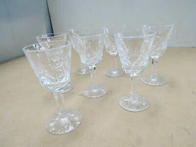 """7 Waterford Cordials, 3 1/2"""" Tall, Lismore"""