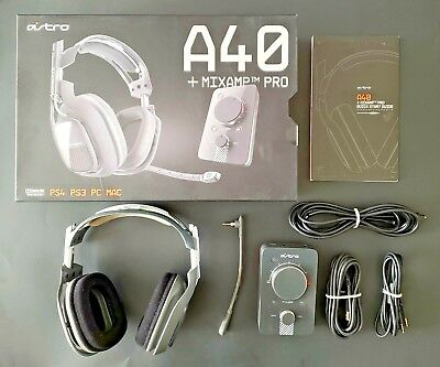 Astro A40 Gaming Headset + MixAmp Pro - PS4 PS3 PC Mac - Complete In Box
