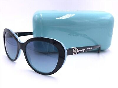 91a5b8df0096 Tiffany co Sunglasses Tf4118 B 8055 9S Aquamarine Crystals Authentic Italy