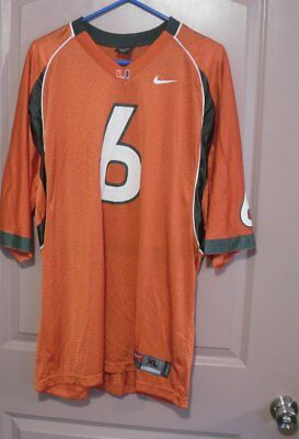 935a23b9f University Of Miami Hurricanes Jersey Men XLarge Nike Team Sports Orange  6  NWOT