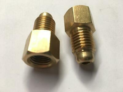 """New 2Pcs Adapter 1/4"""" Female Flare To 1/2"""" Male Acme 59216 Mt0433"""
