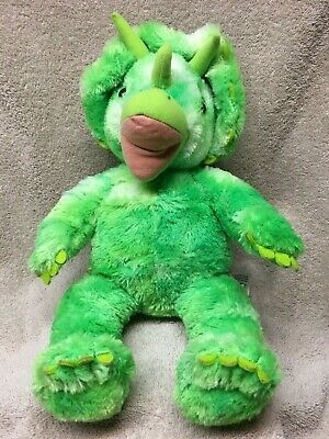 TRICERATOPS BUILD A BEAR babw dinosaur bab green dino PLUSH stuffed cute