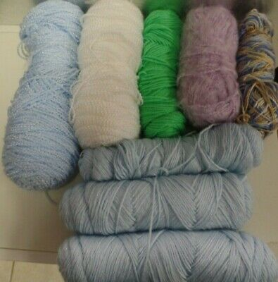 Yarn--Lot Of Assorted Brands And Colors--Great For Odds And End Projects