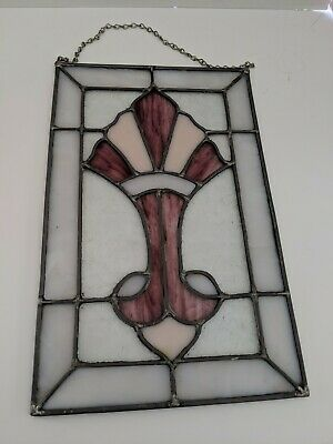 Multi-Colored Stained Glass Window Panel Hanging