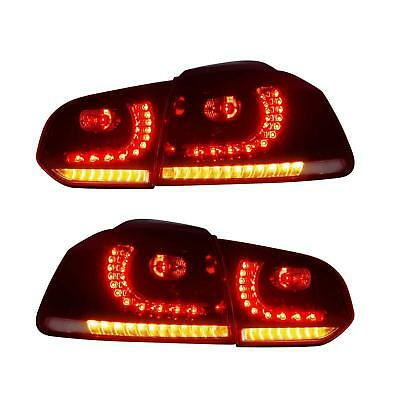 VW Tail Rear Light Full LED For Golf 6 MK6 2008-13 Flowing Dynamic Sequential UK